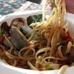 Linguine with Manila Clams, Pancetta, and Hot Chiles